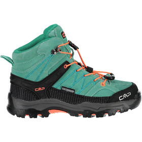 CMP Campagnolo Rigel Mid WP Trekking Shoes Kids aquamint-red fluo
